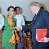 UK's Johnson Meets Myanmar's Suu Kyi on Rohingya Crisis