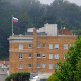 Russia on Saturday was forced to vacate its consulate  in San Francisco and two diplomatic buildings in  New York and Washington.