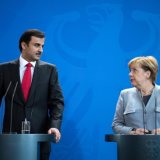 Qatari Emir Meets Merkel in First Overseas Trip Since Crisis