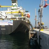 IRISL's vessel BEHSHAD docked at Chabahar on Wednesday, after it set sail from India's western port of Kandla.