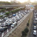 Travel delays caused by traffic average 50.7% in Tehran.