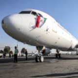 The new Airbus A321 airliner landed in Tehran's Mehrabad Airport on Jan. 12.
