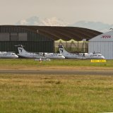 The pictures circulated on the Internet show the ATR planes painted in Iran Air livery lined up for delivery to the flag carrier.  (Flickr/Paul Rowbotham)
