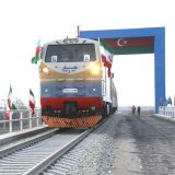 A completed section of the Astara-Astara railroad was tested late Friday after a train set off on a maiden journey from Azerbaijan to Iran's border.