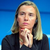 "EU foreign policy chief, Federica Mogherini, hailed the imposition of the blocking statute on Monday as a ""consistent step forward""."