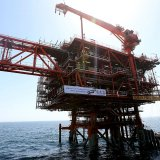 An offshore platform for South Pars Phase 18.