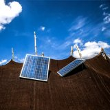 Solar panels powering a nomadic tent in northern Iran. (Photo by: Borna Ghasemi)