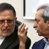 Valiollah Seif (L) and Gholamhossein Shafei