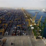 Jebel Ali Port played an active role in UAE-Iran trade, which mostly came in the form of reexports during the sanction years.