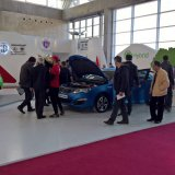 Several car brands are showing electric vehicles at the first Tehran Auto Show in over 11 years.