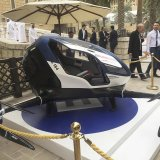 The EHang 184 at the World Government Summit 2017 in Dubai