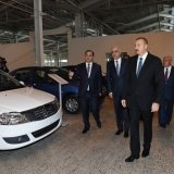 """The Azeri leader says the joint venture is """"a manifestation  of Iran-Azerbaijan relations."""""""