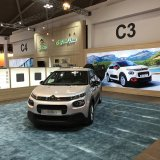 SAIPA has dedicated a booth to its joint venture with French automotive giant Citroen, showcasing the small city hatchback C3.