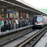 An estimated 3.8 million commuters use Tehran subway every day.