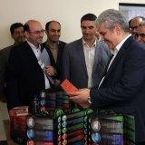Vice President for Science and Technology Sorena Sattari during his one-day trip to Arak, Markazi Province, on August 7