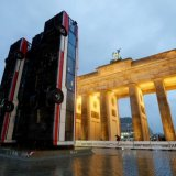 'Monument' near Brandenburg Gate in Berlin