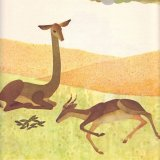 An illustrations from 'Long-Necked Deer'