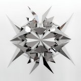 An artwork by Timo Nasseri, 'Muqarnas' made of polished stainless steel.