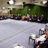 Ayatollah Seyyed Ali Khamenei speaks in a meeting with participants in the PUIC summit in Tehran on Jan. 16.