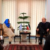 Shamshad Akhtar (L) met with Isa Kalantari on the sidelines of the ESCAP meeting in Tehran on Jan. 30.