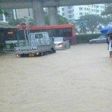 Heavy Rainfall Flooded Singapore