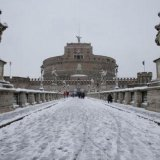 Rare Snow Storm in Rome