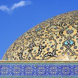 The dome of the Jame' Mosque of Isfahan, a city which has a constant presence in travel brochures