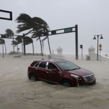 Pictures show Irma pounding Florida. Hurricane Irma is causing  damage from all three factors–wind,  flooding from heavy rain and damage from the sea in different places in Florida.