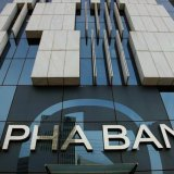 Alpha Bank has performed best among the four banks.