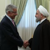 President Hassan Rouhani and Pakistan Foreign Minister Khawaja Mohammad Asif  in Tehran on Sept. 11.