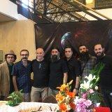 Farshid A'raabi (C) and his band