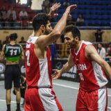 Masoud Soleymani (R) led Iran to the FIBA 3x3 Asia Cup main draw after scoring the game-winning basket in overtime against Uzbekistan.