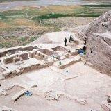 An ancient mud brick building at Godin Tepe