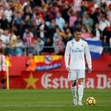Cristiano Ronaldo looks disappointed after his team  lost to Girona on Monday.
