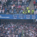 The clock remarked the presence of the team in Bundesliga.