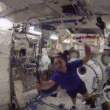 ISS Hosts First Interstellar Badminton Game