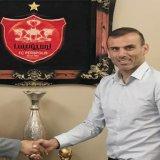 Seyyed Jalal Hosseini (R) and Persepolis manager,  Hamid-Reza Garshasbi
