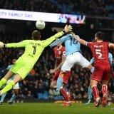 Sergio Aguero nets the winning goal for Man City.