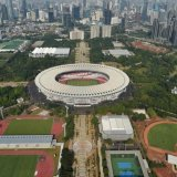 Gelora Bung Karno Sports Complex in Jakarta is one of the venues hosting the Asian Games.