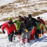 Red Crescent search and rescue teams in operation on December 9