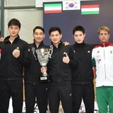 Sabre team won silver in Warsaw, Poland, in February.