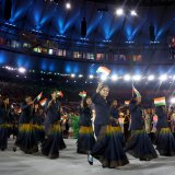 Indian female athletes have worn saris in the past opening ceremonies of the games.
