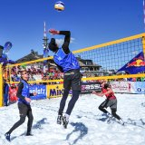 A Russian pair took the final European Snow Volleyball title, April, 2017 at Kronplatz, Italy.