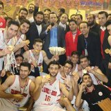 Tabriz Municipality basketball team won the title for national basketball league in February.