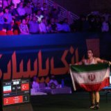 Heavyweight wrestler Behnam Mehdizadeh, in the 130kg category, beat the Turkish opponent Osman Yildrim 2-1  and took Iran's third gold medal.