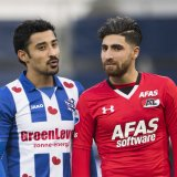 Alireza Jahanbakhsh (R) and Reza Ghoochannejhad both played in the Netherland's top-flight football league, Eredivise, last season.