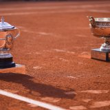 French Open trophies.