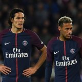 Will Cavani (L) and Neymar be able  to put their differences aside on Wednesday night? (Photo: AFP)