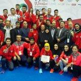Iranian men and women wushu practitioners
