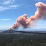 The quakes have prompted the Kilauea volcano, one of five active on the island, to erupt.